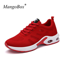 New 2017 Sport Shoes Woman Running Sneakers Black Red Womens Sport Runners Mesh Breathable Ladies Jogging Sneakers Cheap