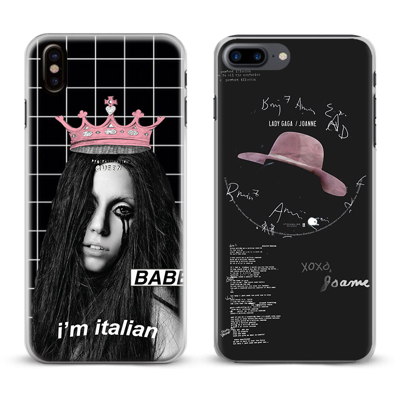Lady JOANNE GAGA Coque Fashion Cool For Apple iPhone X 8Plus 8 7Plus 7 6sPlus 6s 6Plus 6 5 5S SE 4s 4 Phone Case Shell Cover