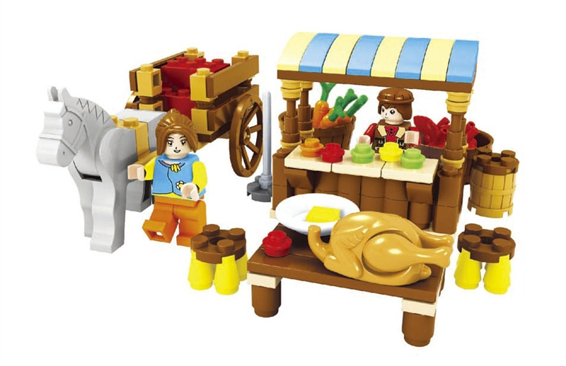 Model building kits compatible with lego friends happy farm 242 3D blocks Educational model building toys hobbies for children rajsinh mohite impact of national leprosy eradication programme