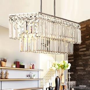 Modern Square Crystal Chandelier Light Fixture Home Indoor ...