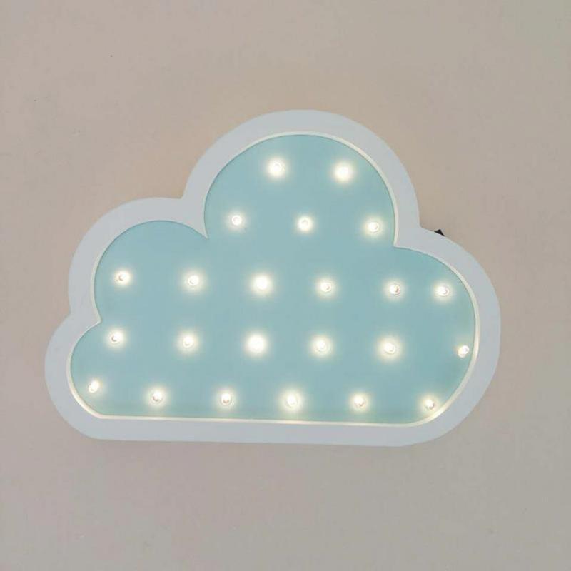 Деревянный настенный светильник с милым облаком, 3d, звезда, луна, настенный светильник, светодиодный милый знак шатра для маленьких детей, д