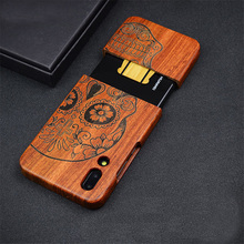 Russian Popular Skull Rosewood Phone Case for Huawei P20 Pro Flower Wooden Huawei P20 P20 Lite Case Cover
