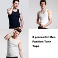 3pcs Men Tank tops Tights Clothing For Men Casual Sleeveless Undershirts Cotton Bodybuilding Stringer Summer Homme Shirts Vest