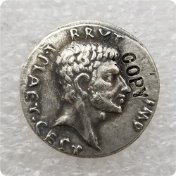 Type:#17 Ancient Roman COIN Brutus assassination Caesar COPY commemorative coins-replica coins medal coins collectibles