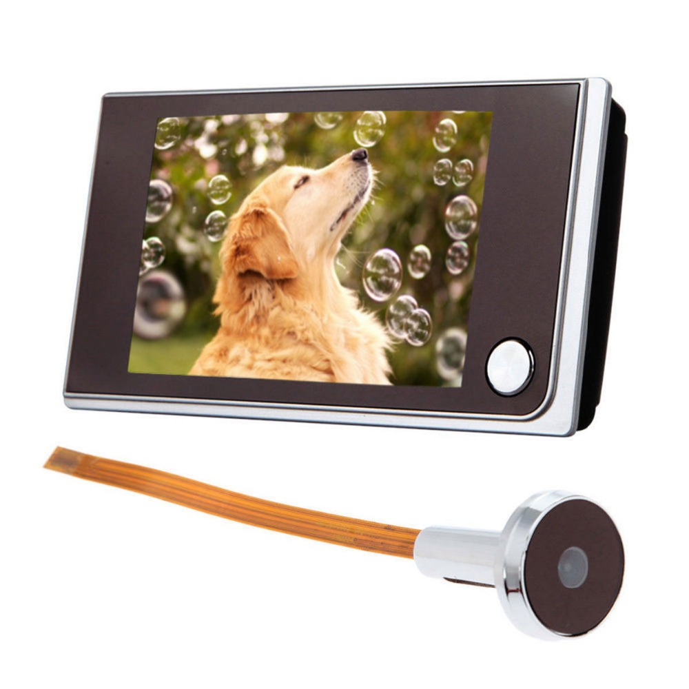 720P HD Door Peephole Viewer Wired Door Eye 3.5 inch LCD Color Digital TFT Memory Security Camera 120 Degree Viewing Angle720P HD Door Peephole Viewer Wired Door Eye 3.5 inch LCD Color Digital TFT Memory Security Camera 120 Degree Viewing Angle