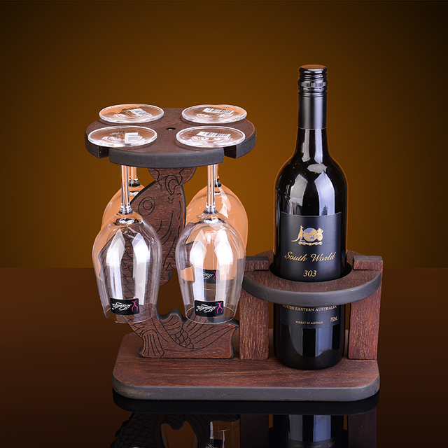 Creative Diving Style Wood Wine Rack European Fashion Bar Wine Rack