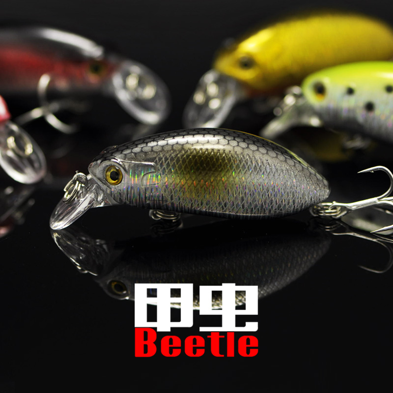 Fishing Lure Beetle Quick Attack Sinking Minnow Culter Fish Bass Mandarin Hard Bait Artificial Lures lure