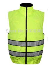 High visility Thermal cotton reflective vest site visitors warning security clothes two-sided for sporting
