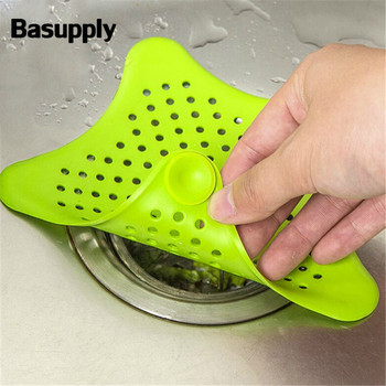1PC Anti-blocking Floor Drain Mat Silicone Sewer Outfall Strainer Sink Filter Hair Stopper Catcher Bathroom Kitchen Accessories