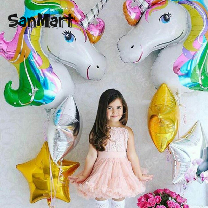 Unicorn Balloon Party Supplies Birthday Party Decorations kids Foil Balloons Wedding Baby Shower Decor Rainbow Mylar Balons