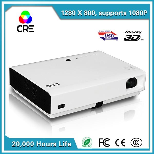 3800 Lúmenes 1080 P 3D Proyector de Cine En Casa Proyector LED Andriod para el
