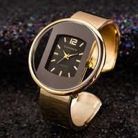 Luxury Brand Gold Silver Women Watches Steel Ladies Watch Creative Girl Quartz Wristwatch Clock Saat Montre Relogio Feminino