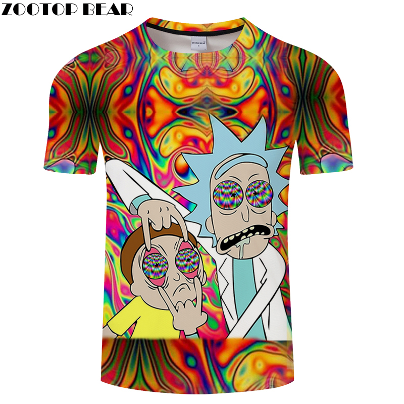 3D MEN Colorful Tee Short Sleeve tshirt Cartoon Funny Friends t shirt Casual Summer t-shirt Round Neck Top ZOOTOP BEAR