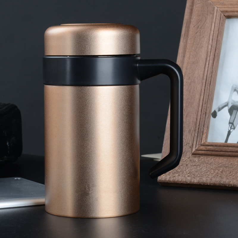 Office Thermos Mug With Handle Stainless Steel Coffee Mugs