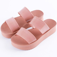 Women Jelly Flip Flops Female Spring & Summer Transparent Beach Cute  Shoes