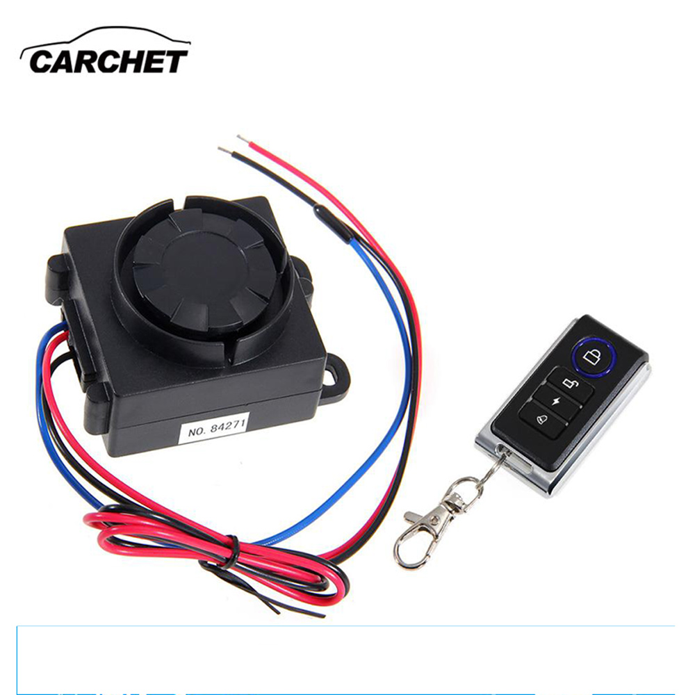 CARCHET 120-125dB מערכת אזעקת אבטחה נגד גניבת אופנוע אוניברסלי 12 V שלט רחוק רטט גלאי משלוח חינם