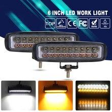 2 шт. 36 Вт Туман лампа LED дальнего света 3000 К 6000 К двойной Цвет Температура для KIA Лада нива уаз Fiat сиденья Opel 9-32 В