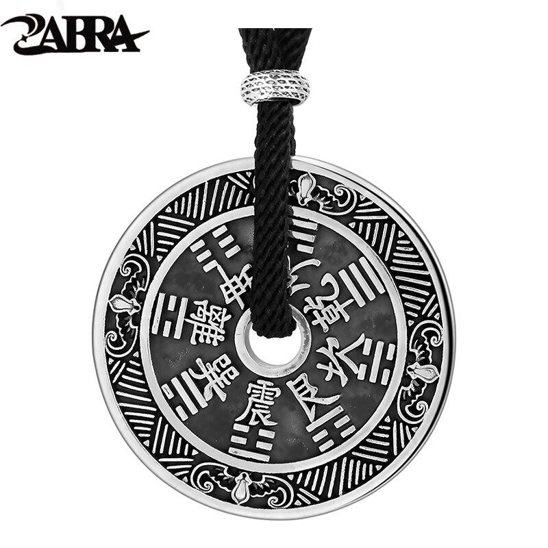 ZABRA Bagua จี้สร้อยคอสำหรับ Man 925 เงินสเตอร์ลิงคู่จี้เหรียญ Vintage ศาสนาพระพุทธรูป's สอน Biker เครื่องประดับ-ใน จี้ จาก อัญมณีและเครื่องประดับ บน   1