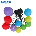 1X Solar Powered Led String Light 3M 10 Colorful Chinese Lanterns Christmas String Lights for Outdoor, Patio, Garden, Holiday