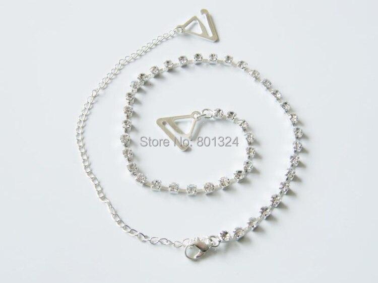 New Sexy Women's Ladies Adjustable Crystal Diamante Rhinestone Bra Shoulder Straps Nice 1 Pair 2