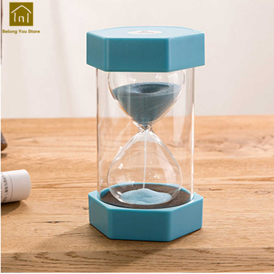 Plastic Decorative Sand Hourglass Timer 30 Minutes Hour Timer Clocks  Countdown 1 Hour Hourglass Temporizador Home Decor WKG036