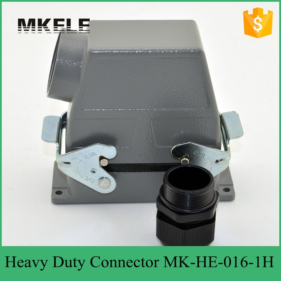 16 PIN 16A 400V/500V Used In Outdoor Voltage Circuit Breaker Heavy Duty Multi  Core Quick Connector High Cover MK-HE-016-1H 3rw3036 1ab04 22kw 400v used in good condition