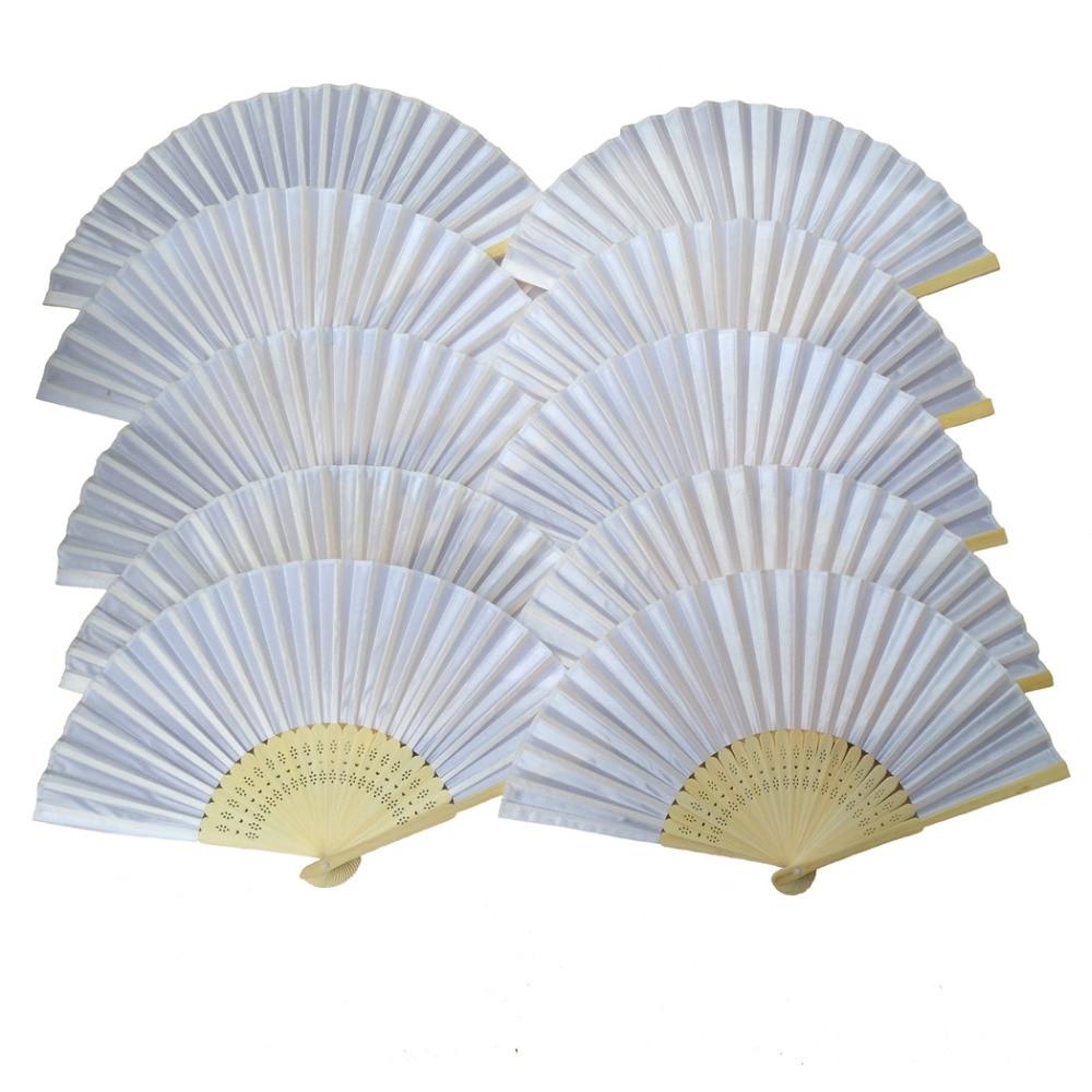 Aliexpress.com : Buy Free Shipping 100pcs White color Paper Hand Fan ...