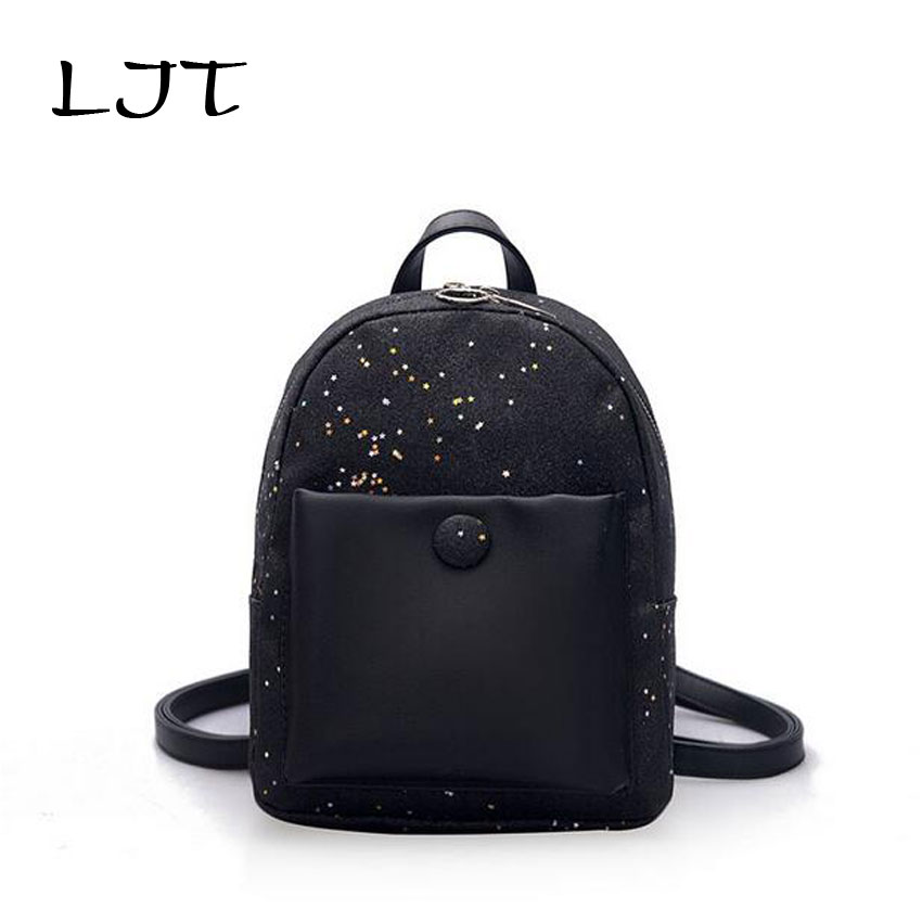 LJT Women Large Capacity Laptop Backpack Female Sequins Shoulder Bag Casual Students School Bag For Girls Holographic Backpack lowepro protactic 450 aw backpack rain professional slr for two cameras bag shoulder camera bag dslr 15 inch laptop
