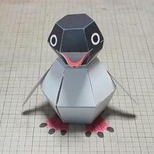 DIY Украшение для альбома из бумаги D'Haruki Nakamura бумажные игрушки пингвин птица оригами Kirigami Pliage decoavrez украшения бумажные игрушки