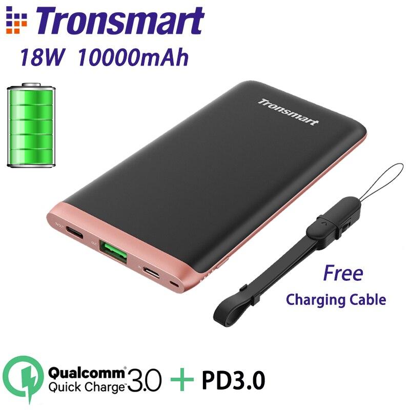 Tronsmart отделкой PBD01 запасные аккумуляторы для телефонов 18 Вт портативное зарядное устройство 10000 мАч Quick Charge 30 с PD30 iPhone X samsung купить в магазине Tronsmart Official Store на AliExpress