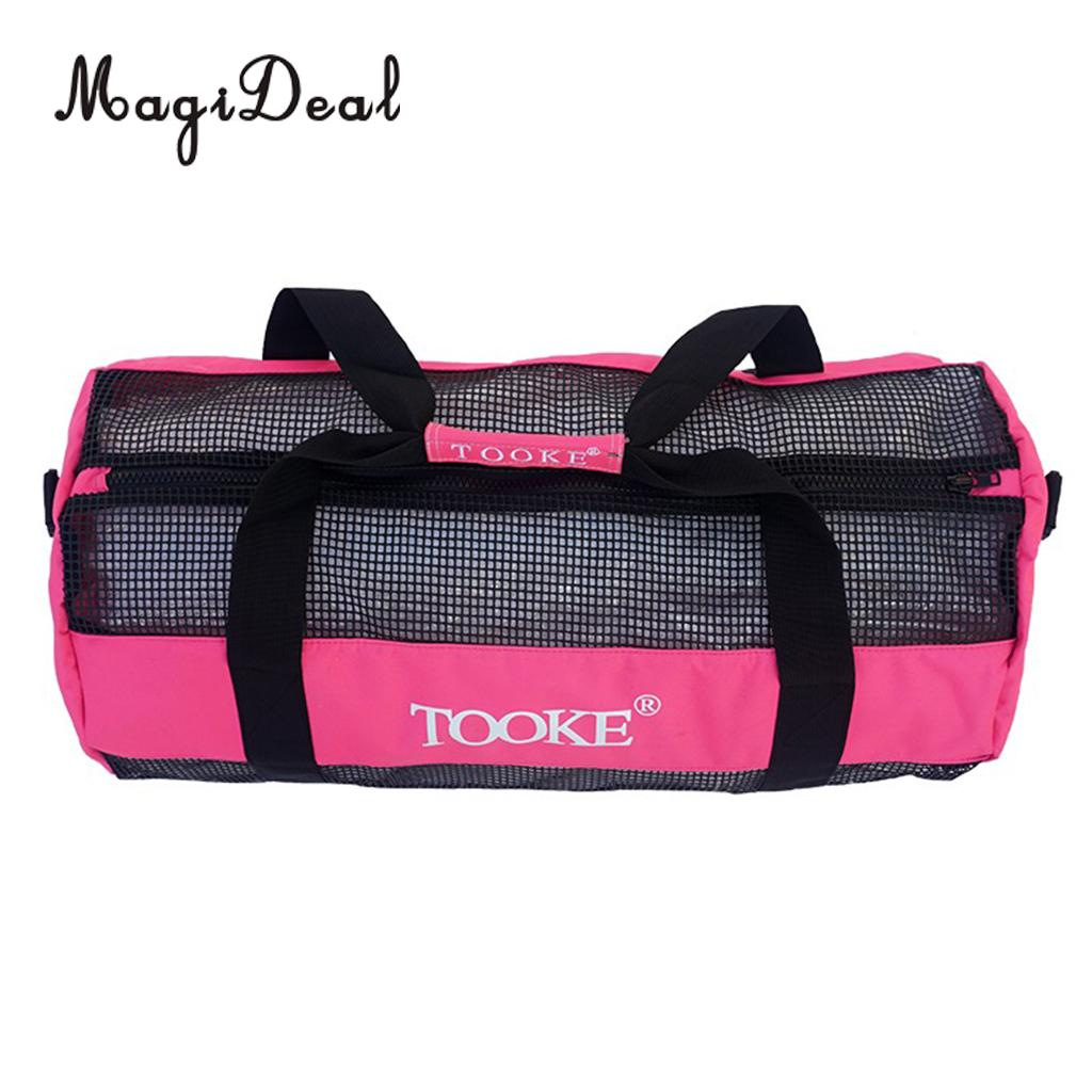 MagiDeal Heavy Duty Mesh Duffel Bag Storage Pouch for Scuba Diving  Snorkeling Black Pink-in Pool   Accessories from Sports   Entertainment on  Aliexpress.com ... cb5bdd9586