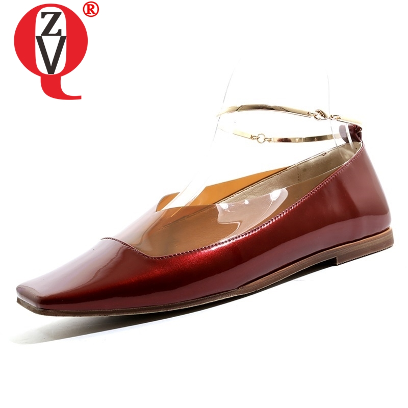 ZVQ shoes women 2019 spring new concise casual high quality genuine leather popular women flats outside