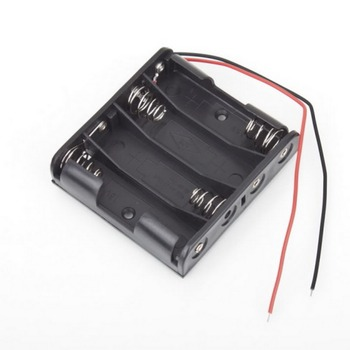 1 Pcs New Battery Box Slot Holder Case for 4 Packs Standard AA 2A Batteries Stack 6V Dropshipping