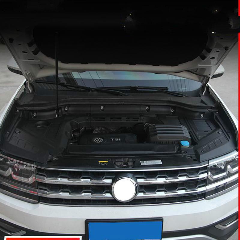 Para volkswagen teramont 2016 2017 2018 de alta qualidade compartimento do motor plástico à prova ddustágua, dustproof, capa protetora