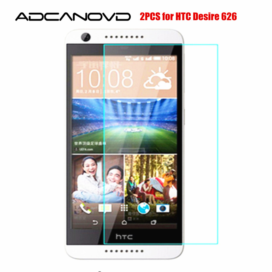 2Pcs/Lot Tempered Glass For HTC Desire 626 Dual Sim Screen Protector Protective Film on 626s D626W D626n 626G+ 4G Lte