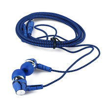 1PC Crack Earphone Cloth Rope Stereo Bass Headset With Micrphone For iphone Samsung For XiaoMi For HuaWei OnePlus
