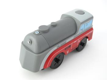 Combination of magnetic electric locomotive TTO22 Grey Train Wooden Track compatible with brio track train set