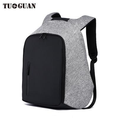 0088 52f 0088 TUGUAN Anti theft backpack smart usb charge shoulder bag male business shoulder bag multi functional student bag