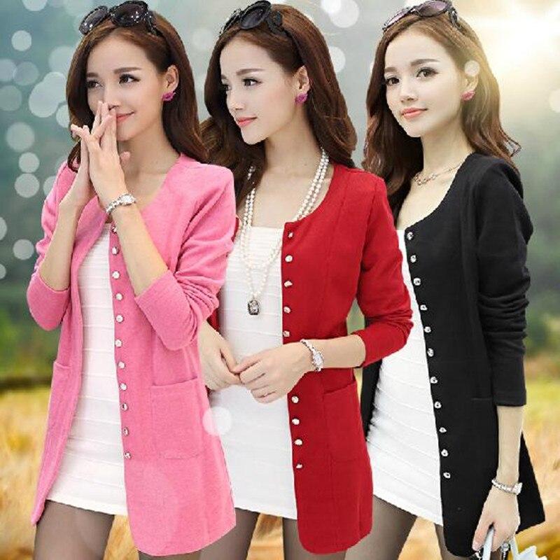 Women Blazer 2016 New Plus Size M 5XL Single Breasted Long Slim Casual Suit Jacket Outwear