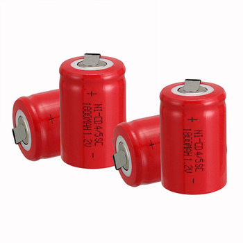 Anmas power new arrival 4 PCS Ni-Cd 4/5 SubC Sub C battery Rechargeable Battery 1.2V 1800mAh with red Tab 3.3cm x 2.2cm image
