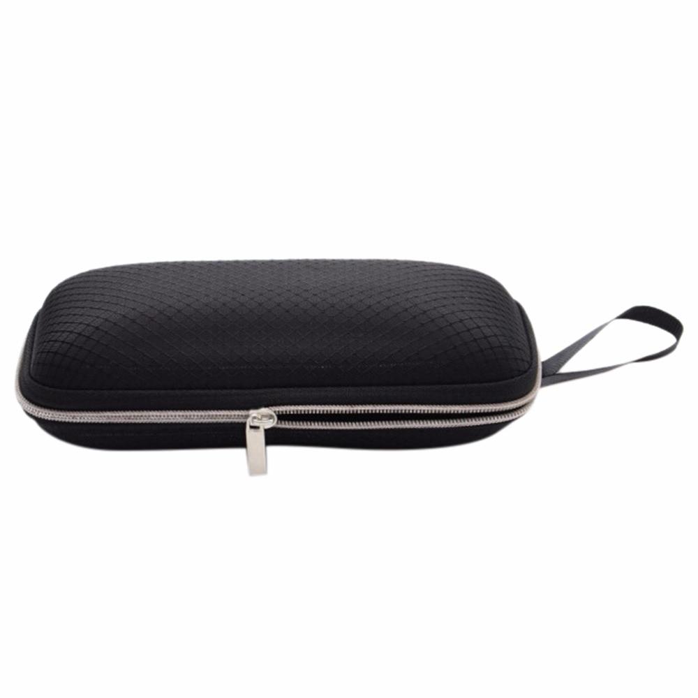 Eye Glasses Sunglasses Hard Case Cover Bag Storage Box Portable Protector Black High Quality Rectangle Grid Zipper Glasses Case