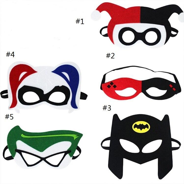 Mask Harley Quinn DC Joker Super Hero Batman Mask Kids Boy Girl Costume Star Wars Xmas Avengers DIY Masquerade Eye Mask Cosplay