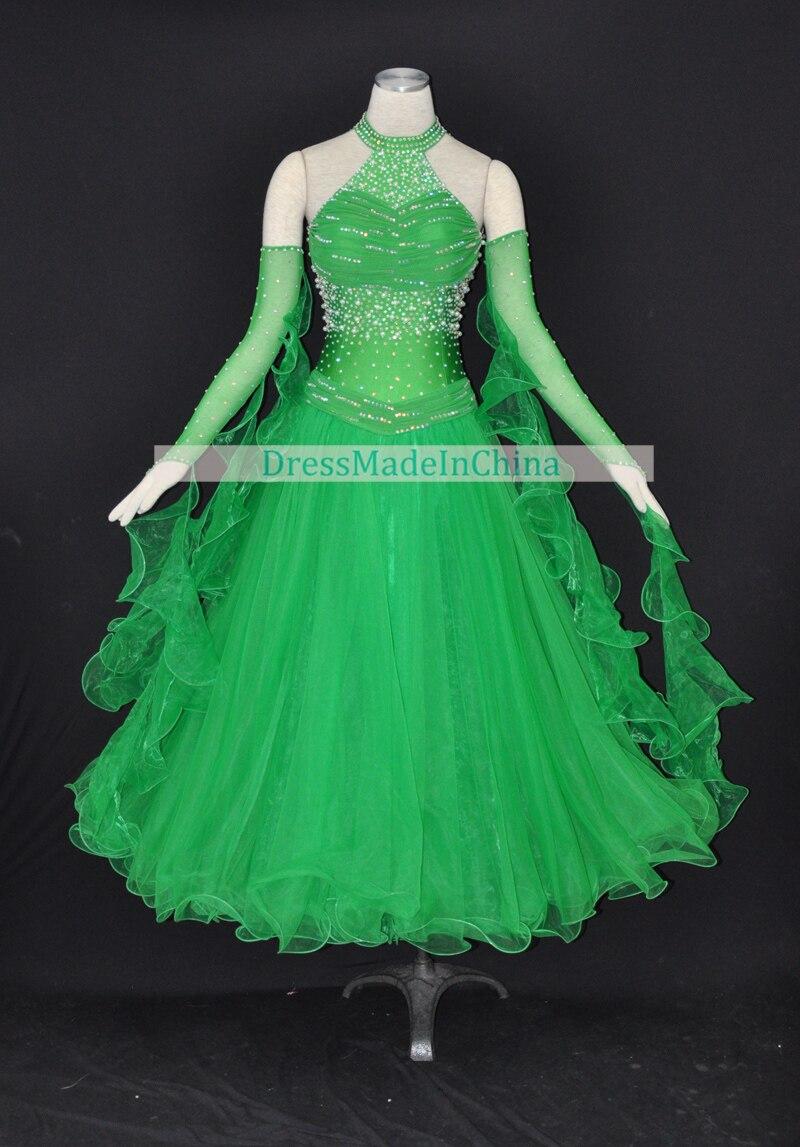 Online Get Cheap Ballroom Green Dress -Aliexpress.com   Alibaba Group