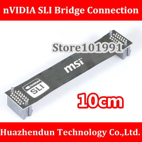High Quality nVidia Card SLI Bridge PCI-E Graphics Connector 10CM Bridge connection for Video Card vg 86m06 006 gpu for acer aspire 6530g notebook pc graphics card ati hd3650 video card