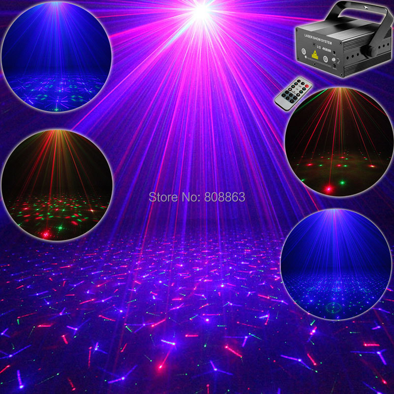 RGB 300Mw Laser 24 Patterns Projector Blue Full Stars Red Green Club Party Bar DJ Holiday Disco Xmas Dance Lighting Light T70 laser stage lighting 48 patterns rg club light red green blue led dj home party professional projector disco dance floor lamp