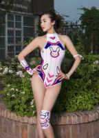 Anime Gioco OW DVA Cosplay D. Va Costume Da Bagno Su Ku Acqua Sexy di Un pezzo del Costume Da Bagno