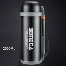 2L Stainless Steel Thermo Cup Travel Coffee Mug with Lid  and Cover Outdoor Car Water Bottle Portable Vacuum Flasks