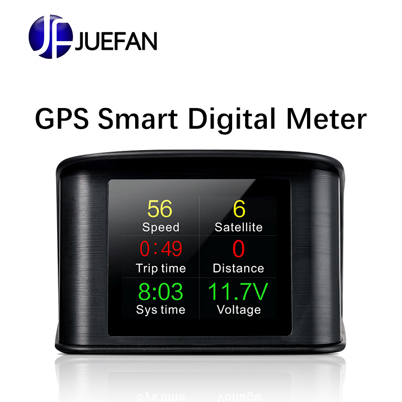 New Smart HD HUD gps speedometer Monitor on-board computer Supports Diversification of All Automotive GPS Mode Display CAR HUD цена