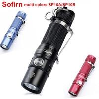 Sofirn SP10A SP10B Mini LED Flashlight AA 14500 Pocket Light Cree XPG2 573lm Keychain Light Waterproof