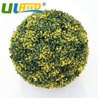 28cm artificial grass ball topiary boxwood kissing ball wedding garden decoration window display free shipping-G0602C01-28-1